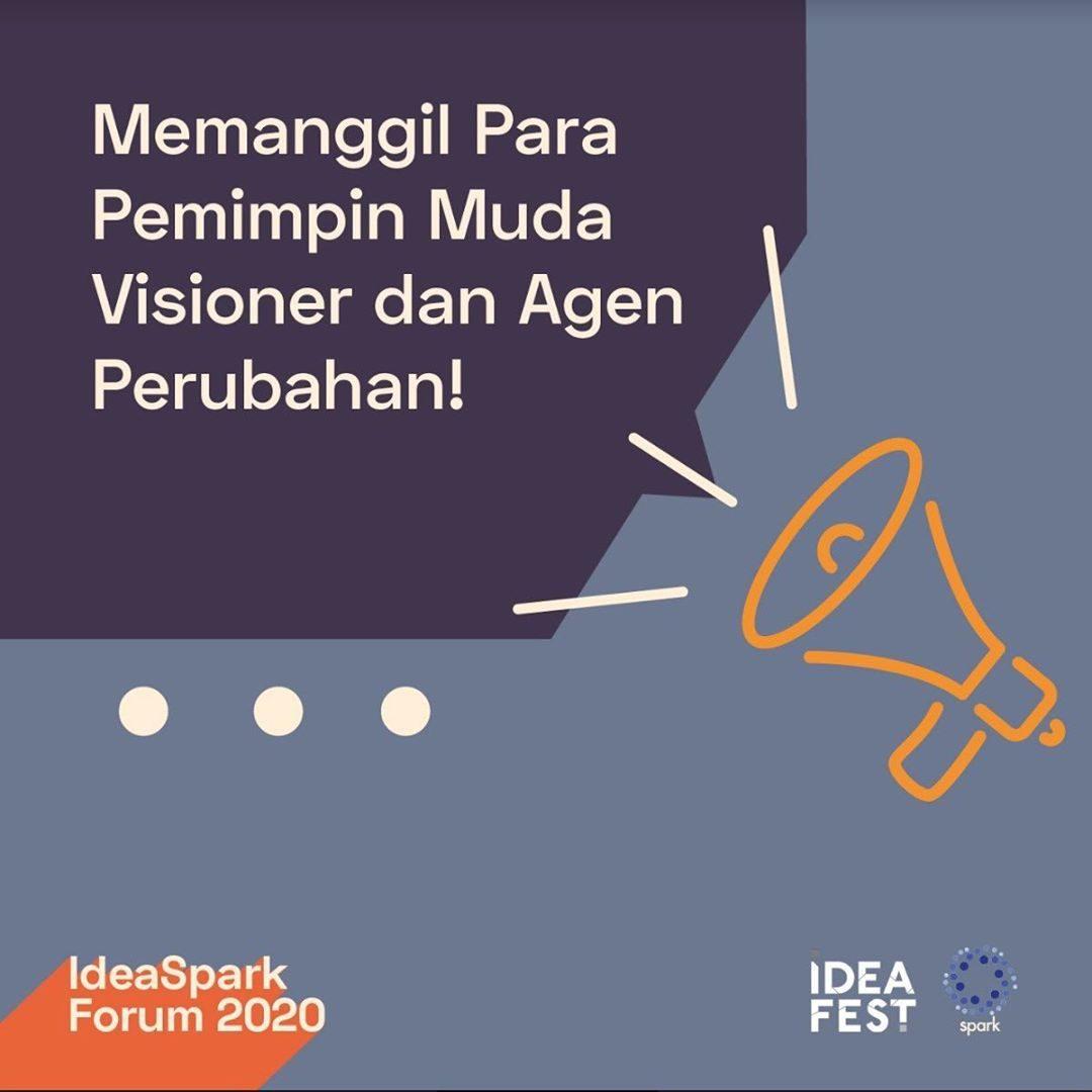 <div>IDEAFEST 2020 & SPARK MEMANGGIL PARA PENGGAGAS PERUBAHAN GENERASI MUDA  Bersama dengan festival kreatif terbesar di Indo...</div>