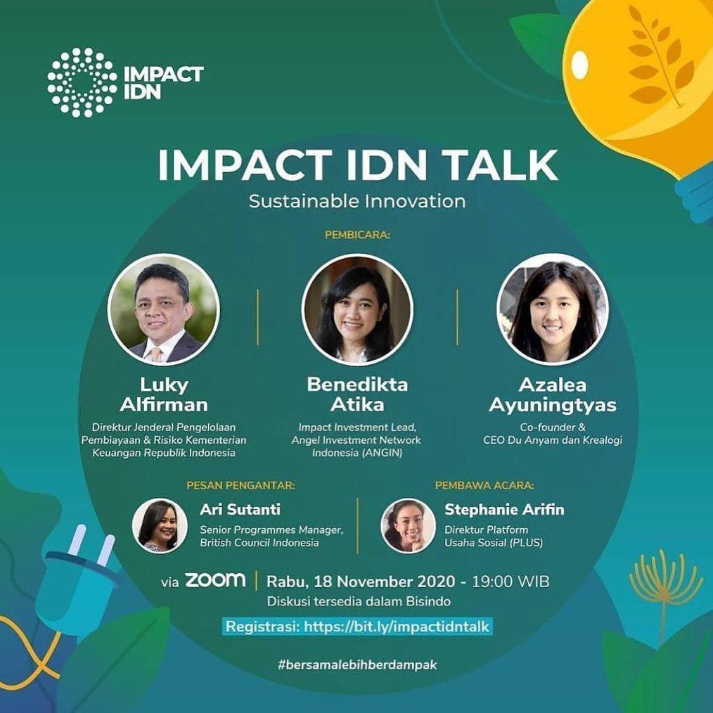 BESOK! Kita akan diskusi tentang bagaimana inovasi dan investasi bergerak bersama untuk membuat Indonesia lebih baik.   ...