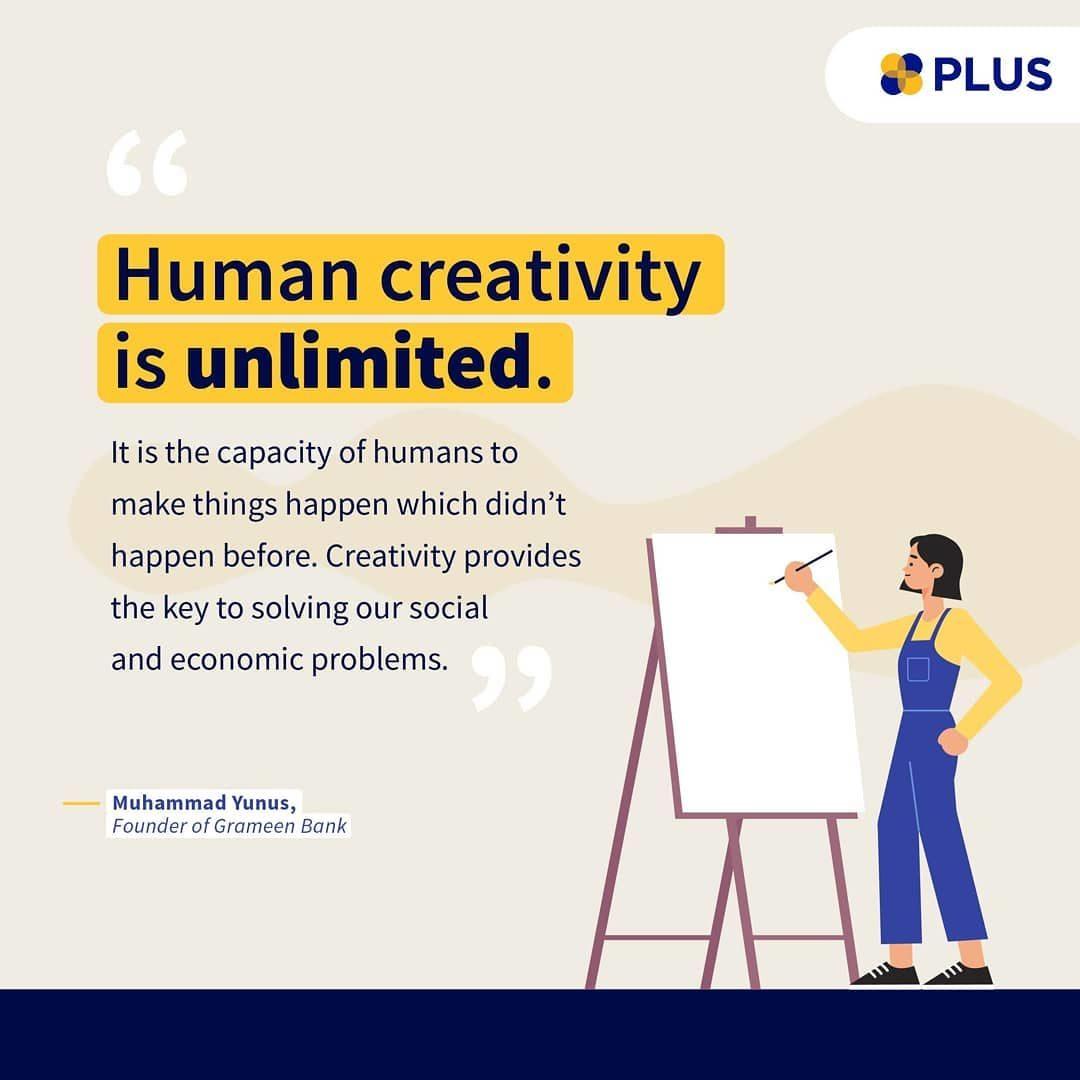 Kreatif bukan hanya tentang mencari ide yang berbeda, tapi juga tentang bagaimana ide kamu bisa menjadi solusi dan membe...