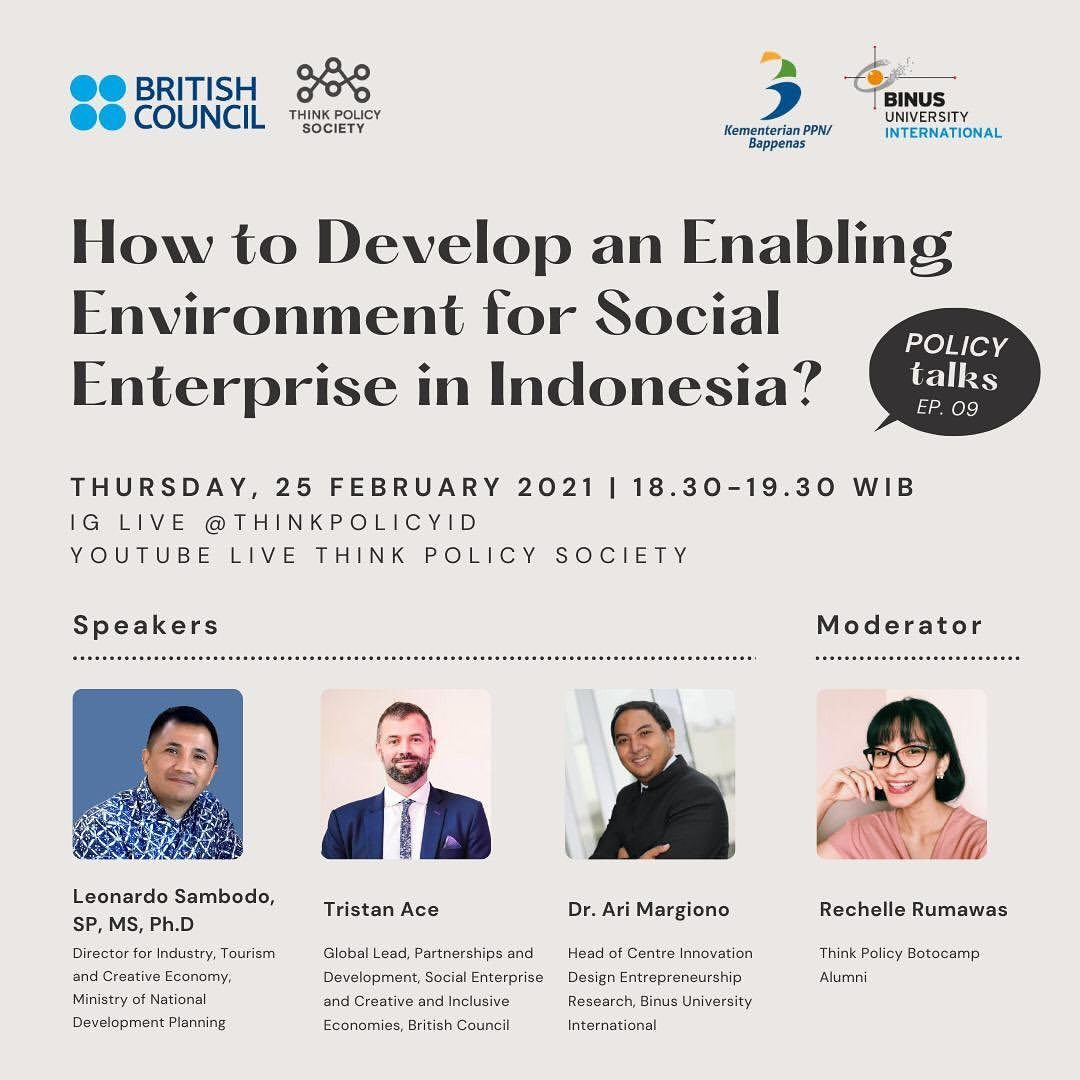 We should be optimistic to see the high growth of social enterprises in Indonesia. The more parties that focus on social...