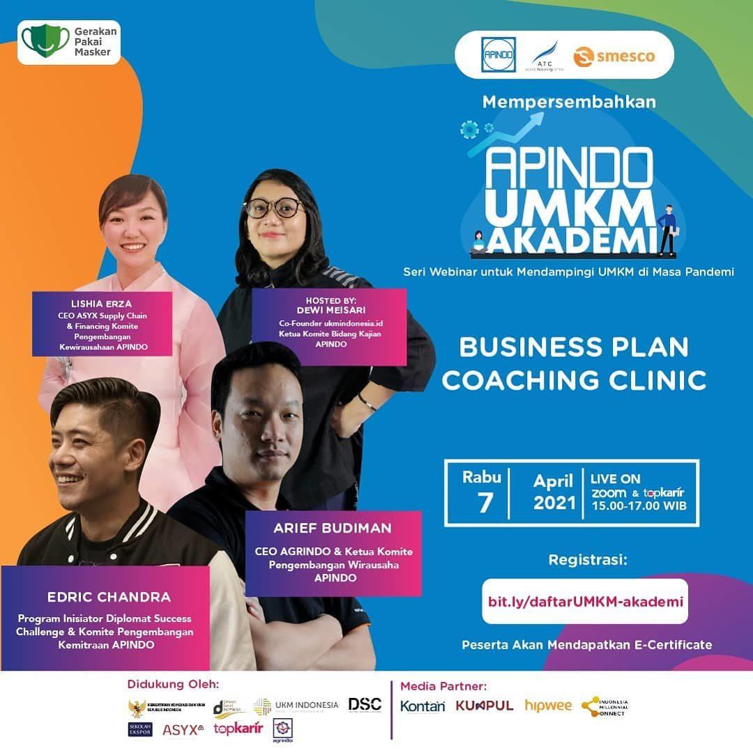 Sering diminta Business Plan untuk keperluan pendanaan atau untuk pengembangan bisnis? Nah, kesempatan coaching bersama ...