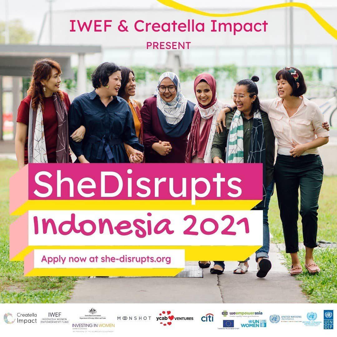 ✨SheDisrupts Indonesia 2021 adalah kompetisi bisnis dengan rangkaian program pra-akselerasi untuk pengusaha wanita!   Ap...