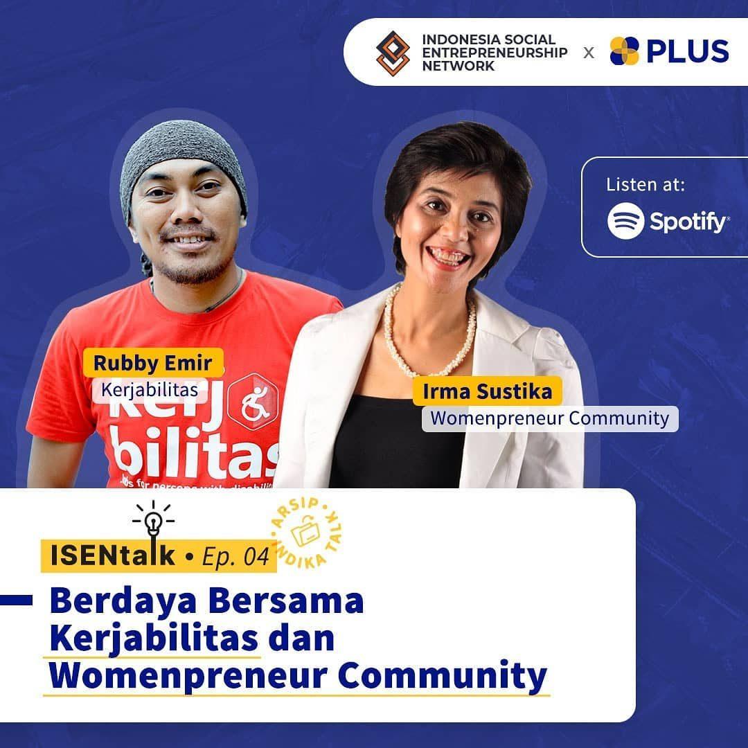 ISEN Talk wants to send you a social enterprise spirit with @kerjabilitasid dan @womanpreneurcommunity 📆 Kamis, 22 Juli...